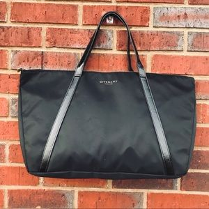 GIVENCHY Black Nylon Large Handbag Satchel 🆕
